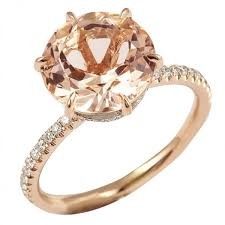 pink gold engagement rings lepozzi morganite two tone ring