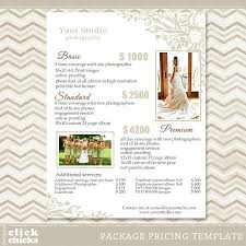 Photography Wedding Packages Photography Package Pricing List Template Wedding Packages
