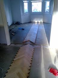 herringbone parquet installation in greenwich