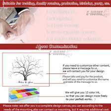 Wedding Gift Cost Aliexpress Com Buy Fingerprint Tree Signature Canvas Painting