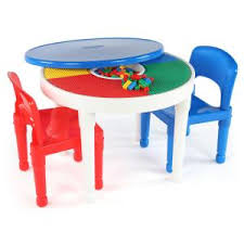 2 In 1 Activity Table Tot Tutors Bright Colors 2 In 1 Plastic Lego Compatible Kids