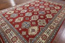 10 x 13 area rugs traditional red super kazak hand knotted oriental 10 u0027x13 u0027 wool