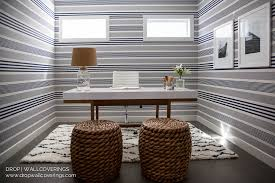 nautical blue and white striped wallpaper drop wallcoverings