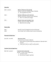 accountant resume template 4 fresher accountant resume 6 free word pdf documents