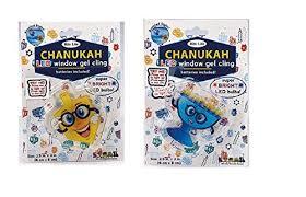 hanukkah window decorations hanukkah window decorations led menorah and dreidel gel clings