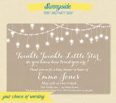 printable twinkle twinkle baby shower invitation gender neutral