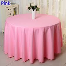 pink round table covers pink colour round table cloth party polyester table cover for