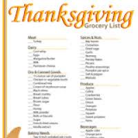 thanksgiving food checklist bootsforcheaper