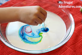 easy milk paint craft for kids my frugal adventures