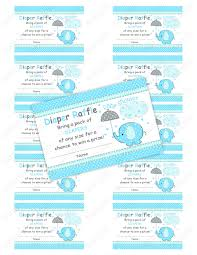 sale boy umbrellaphant elephant baby shower diaper raffle