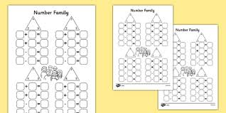 number family activity sheet pack number family inverse