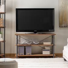 Lcd Tv Wooden Table Belham Living Edison Reclaimed Wood Tv Stand Hayneedle