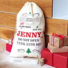 personalised sack by a type of design
