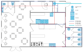 restaurant dining room layout plumbing and piping plans solution conceptdraw com