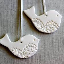 bird ornaments decoration tag keepsake white
