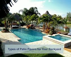 types of patio pavers concrete brick natural stone