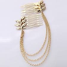 ccf225 selling new design hair accessories gold plated metal