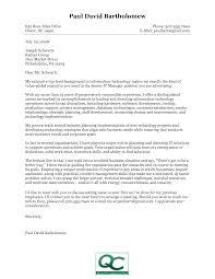 resume cover letter sample information technology