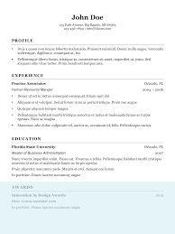 Example Of Resume For Human Resource Position by Resume Format Human Resource Manager Profile Experience