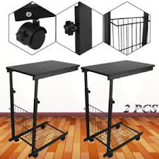 adjustable height c table 2 x height adjustable over bed c style table tabletop tray rolling