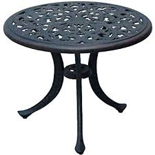Patio Round Tables Amazon Com Darlee Series 80 Patio Round End Table In Antique