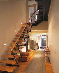 Indoor Stairs Design Interior Modern Decorating Ideas Using Brown Laminate Floor And