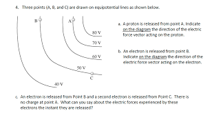 1 sketch the electric field and equipotential con chegg com