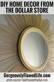 dollar store diy home decor starburst mirror 45 super cute diy home decor ideas from the