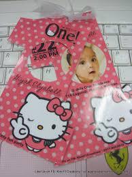 Hello Kitty Birthday Invitation Card F1 Digital Scrapaholic Hello Kitty 1st Birthday 2 Page Invitation