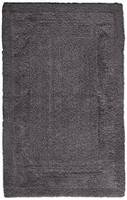 archangel ultra soft embossed pebbles stone bath mat grey super
