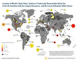 Usa Fracking Map by 40 Percent Of Countries With Largest Shale Energy Resources Face