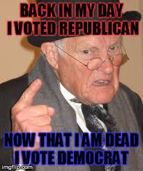 I Voted Meme - back in my day meme imgflip