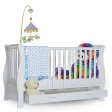 Nursery Furniture Sets White by White Sleigh Cot Bed Nursery Set Bedding Queen