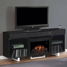 furniture alluring black tv stand with fireplace for different