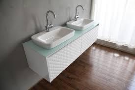 Double Vanity Size Standard Bathrooms Design Glass Top Vanity Bathroom On Throughout Sink