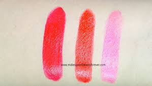shades or orange maybelline colorshow lipsticks review shades swatches price and