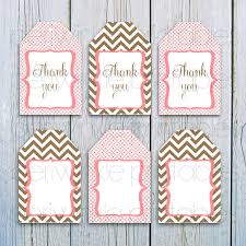 instant download printable gift tags pink and brown gift tags