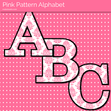 pink pattern free printable letters make breaks