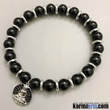 black bracelet with charm images Beaded bracelets buddha talisman icon symbol yoga jewelry jpg