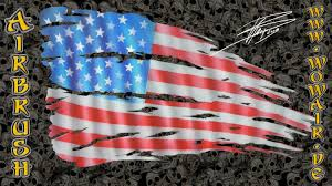 Us Flag Facts Airbrush By Wow No 411