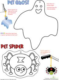 Halloween Cut Outs Halloween Cutouts Spider And Ghost Worksheet Education Com