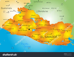 El Salvador On World Map by Vector Color Map El Salvador Country Stock Vector 212920240