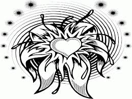 flower and hearts coloring pages coloring home