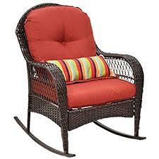 Rocking Patio Chair Amazon Com Best Choiceproducts Wicker Rocking Chair Patio Porch