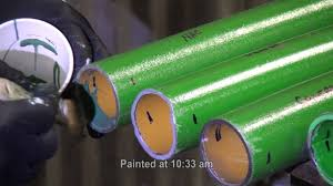 Green Paint Mcwane Est Waiting On Green Paint To Dry Green Epoxy Pipe