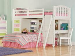toddler bed kids bunk beds with desk girls home white one