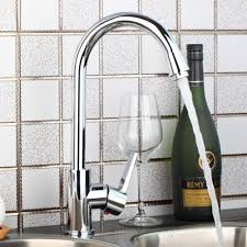 solid brass kitchen faucet kitchen swivel spout faucet chrome finish solid brass mixer tap