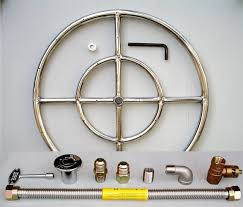Firepit Burner 18 Stainless Steel Pit Gas Burner Ring Kit