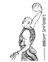 lebron james coloring pages lebron james coloring page free