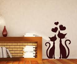 aliexpress com buy removable wall sticker cat couple in love